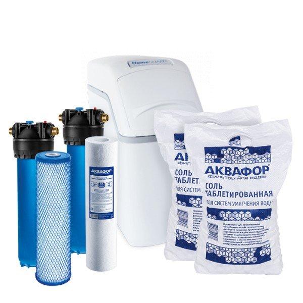 Умягчитель Аквафор WaterBoss 400P + Гросс 2 шт. + Фирменная соль Аквафор