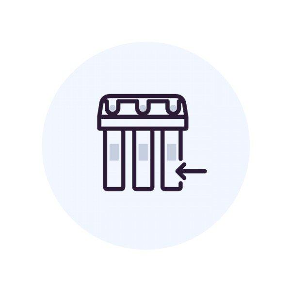 Установка фильтра колонного типа 12х54